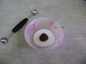 melon baller and cookie dough